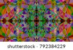 abstract geometric ornament... | Shutterstock . vector #792384229