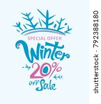 winter 20  off sale.... | Shutterstock .eps vector #792388180