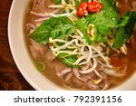 beef soup  hot pot  vietnamese...   Shutterstock . vector #792391156