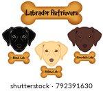 labrador retrievers   black ... | Shutterstock .eps vector #792391630
