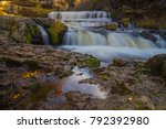 long exposure waterfall willow...   Shutterstock . vector #792392980