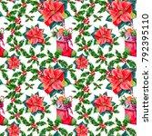 seamless christmas texture ... | Shutterstock . vector #792395110