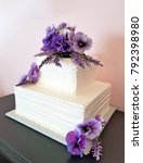 purple pansy bouquet on white... | Shutterstock . vector #792398980