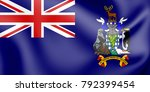 3d flag of south georgia and... | Shutterstock . vector #792399454