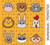 icon set cartoons design | Shutterstock .eps vector #792401710