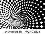 geometric black and white... | Shutterstock .eps vector #792403036