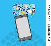 social media design | Shutterstock .eps vector #792407620