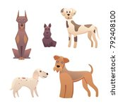 collection cute different type... | Shutterstock . vector #792408100