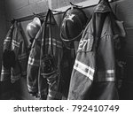 Firefighter Gear With Fire...