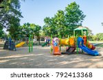 outdoor children playground in... | Shutterstock . vector #792413368