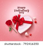 happy valentines day greeting... | Shutterstock .eps vector #792416350