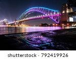 vivid sydney   harbour bridge | Shutterstock . vector #792419926