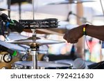 close up of man playing the... | Shutterstock . vector #792421630