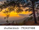 mountain at sunset  phu... | Shutterstock . vector #792437488