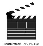 blank movie clapper open...   Shutterstock .eps vector #792443110