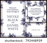 romantic invitation. wedding ... | Shutterstock . vector #792448939