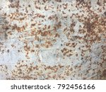 old rusty iron dirty wallpaper. ... | Shutterstock . vector #792456166
