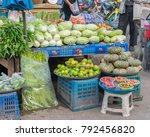 fresh fruit and vegetables for... | Shutterstock . vector #792456820