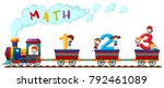 counting numbers on train with... | Shutterstock .eps vector #792461089