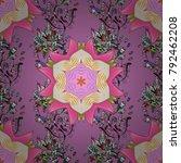 retro textile design collection.... | Shutterstock .eps vector #792462208