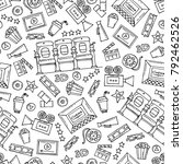 vector seamless pattern with... | Shutterstock .eps vector #792462526