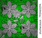 Green Pattern. Metal With...
