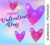 balloon hearts holiday...   Shutterstock .eps vector #792465520