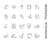 cleaning icons   illustration... | Shutterstock .eps vector #792466048