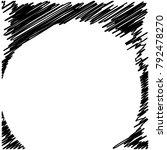 circle hatching grunge graphite ... | Shutterstock .eps vector #792478270