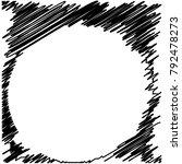 circle hatching grunge graphite ... | Shutterstock .eps vector #792478273