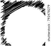 circle hatching grunge graphite ... | Shutterstock .eps vector #792478279