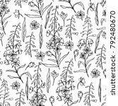 willow herb  chamerion... | Shutterstock .eps vector #792480670