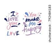 love letters lettering | Shutterstock .eps vector #792484183