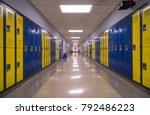 symmetrical view of a school... | Shutterstock . vector #792486223