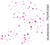 heart confetti beautifully... | Shutterstock .eps vector #792491560