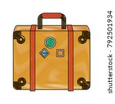 travel suitcases symbol | Shutterstock .eps vector #792501934