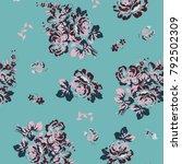 floral pattern in vector | Shutterstock .eps vector #792502309