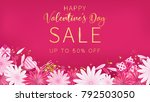 valentine's day sale red... | Shutterstock .eps vector #792503050