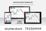 trading candlestick chart on... | Shutterstock .eps vector #792504949