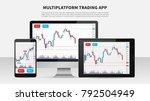 trading candlestick chart on... | Shutterstock .eps vector #792504949