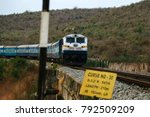 the mighty indian trains  | Shutterstock . vector #792509209