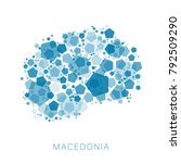 map of macedonia filled with...   Shutterstock .eps vector #792509290