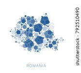map of romania filled with...   Shutterstock .eps vector #792510490