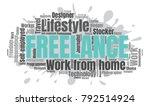 freelance or self employed word ...   Shutterstock .eps vector #792514924
