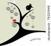 Birds On A Tree   Vector