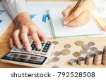 business man or accountant in... | Shutterstock . vector #792528508
