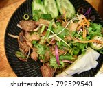 thailand beef salad  thailand...   Shutterstock . vector #792529543