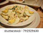 potato bacon salad  germany... | Shutterstock . vector #792529630