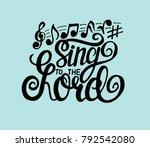 hand lettering sing hallelujah...