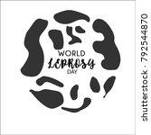 world leprosy day. leprosy... | Shutterstock .eps vector #792544870